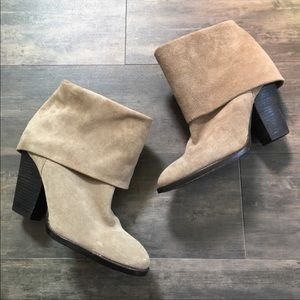 Vince Camuto suede leather booties